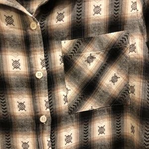 Mudd Black & Cream Flannel